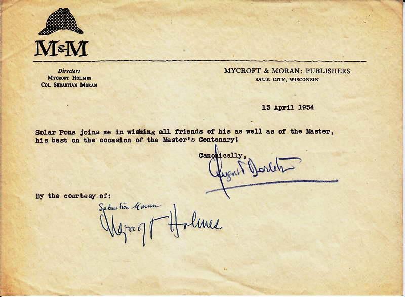 Mycroft and Moran letter